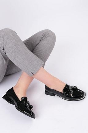 Marjin Kadın Siyah Rugan Loafer Ayakkabı Favol 3
