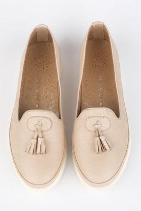Marjin Kadın Bej Hakiki Deri Comfort Ayakkabı Sore 2