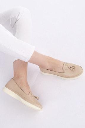 Marjin Kadın Bej Hakiki Deri Comfort Ayakkabı Sore 3