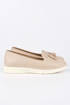 Marjin Kadın Bej Hakiki Deri Comfort Ayakkabı Sore 4