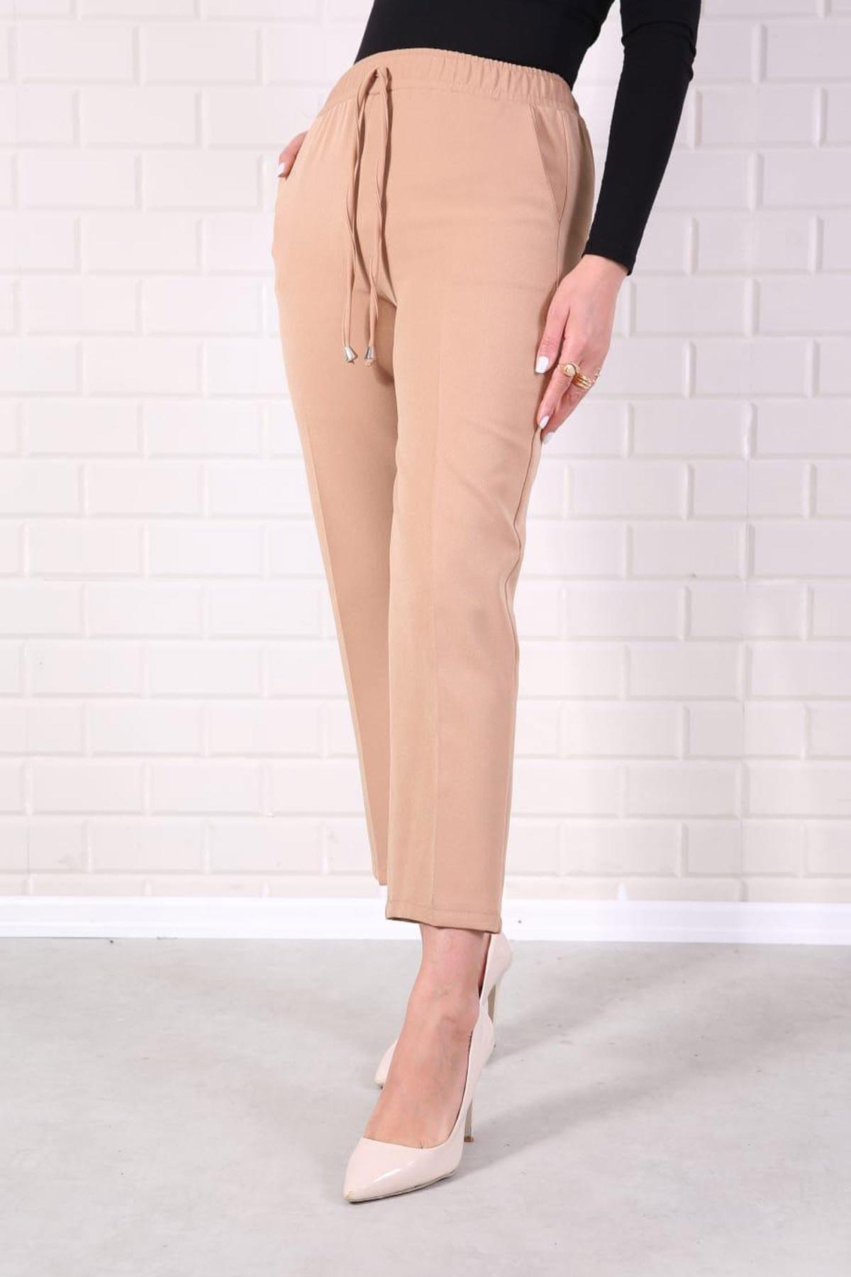 Kadın Vizon Lastikli Havuç Pantolon - Me000322