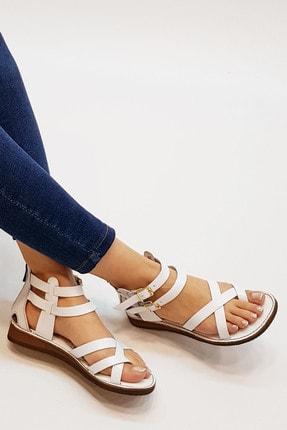 Marjin Zelos Kadın Hakiki Deri Parmak Arası Sandaletbeyaz 0