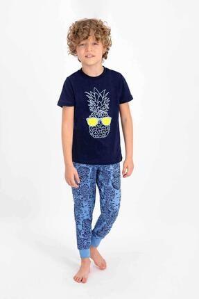 Picture of Erkek Çocuk Lacivert Kısa Kol Pijama Takımı 2334