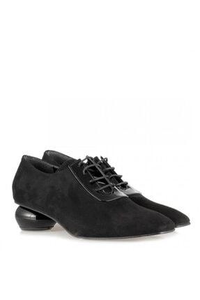 41 Numara Bayan Ayakkabı Siyah Tasarım Topuk 12473SYS