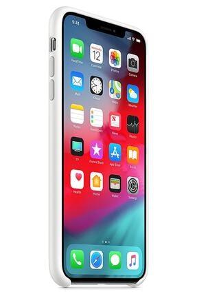 Ebotek Iphone Xs Max Kılıf Silikon Içi Kadife Lansman Beyaz 1