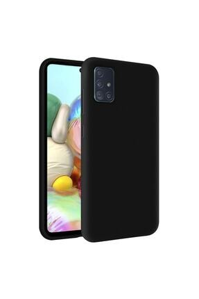 KZY İletişim Samsung M31s Kapak Içi Kadife Soft Logosuz Lansman Silikon Kılıf - Siyah 0