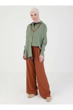 Loreen Kadın Kiremit Beli Lastikli Pantolon 2