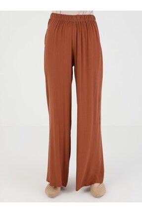 Loreen Kadın Kiremit Beli Lastikli Pantolon 4