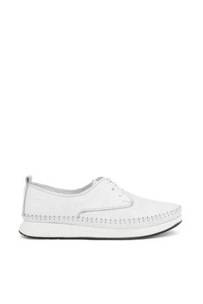 تصویر از , Kadın Hakiki Deri Ayakkabı 111354 03 Beyaz
