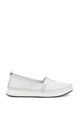 تصویر از , Kadın Hakiki Deri Ayakkabı 111354 05 Beyaz
