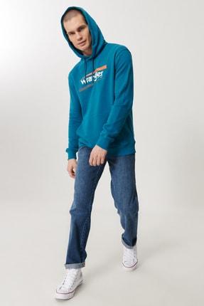 Texas Erkek Koyu Mavi Straight Fit Normal Bel Düz Paça Esnek Jean Pantolon W121XG13Z