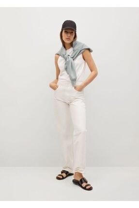 Mango Kadın Beyaz Kolsuz Bluz 1