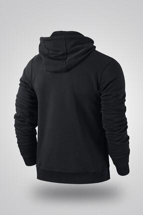 NVM Tekstil Nvm Rick Just Rick It Baskılı Siyah Erkek Kadın Unisex Kapşonlu Sweatshirt Uzun Kol 1