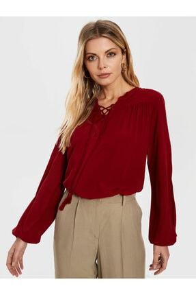 LC Waikiki Kadın Bordo  Bluz 1