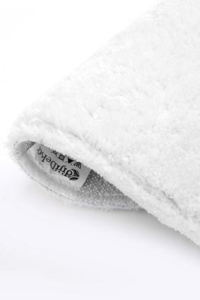Dijidekor Beyaz Yuvarlak Post Dokuma Halı Peluş Yumuşacık Kaymaz Antibakteriyel 180x180 2