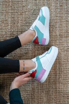 Bartrobel Kadın Beyaz Yeşil Günlük Spor Ayakkabı 1