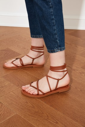 TRENDYOLMİLLA Taba Kadın Sandalet TAKSS21SD0026 0