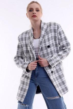 R&M Collection Özel Tasarım, Düğmeli, Cep Kapaklı, Sezon Trendi, Kare Blazer Ceket 1