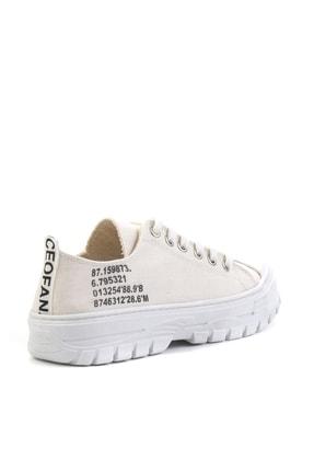 Bambi Bej Keten Kadın Sneaker K01530110518 3