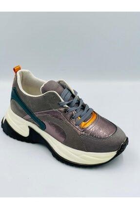 Pierre Cardin Gümüş Parlak Ortopedik Hafızalı Tabanlıklı Hafif Rahat Konforlu Spor Ayakkabı 2