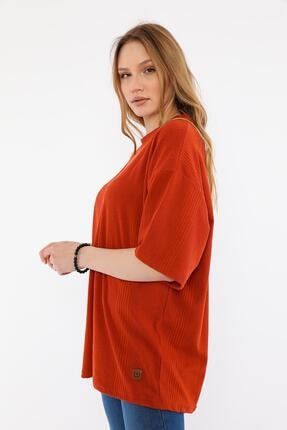 ALEXANDERGARDI Kadın Kırmızı Oversize T-shirt 1