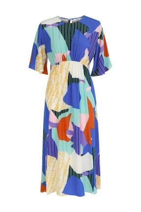 Twist Desen Geçişli Elbise 3