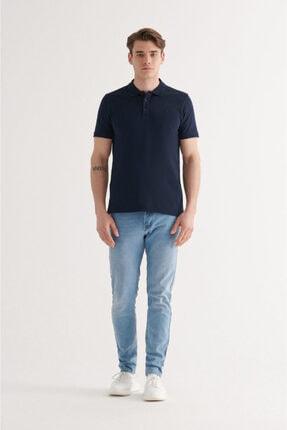 Avva Erkek Lacivert Polo Yaka Düz T-shirt A11b1146 4