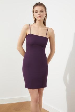 Mor İnce Askılı Sırt Detaylı Elbise TPRSS21EL0757