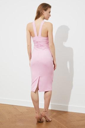TRENDYOLMİLLA Pudra Yaka Detaylı  Elbise TPRSS21EL1492 4