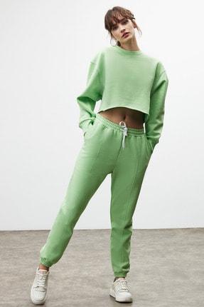 GRIMELANGE CLEMENTINE Kadın Yeşil Renk Yuvarlak Yaka Eşofman Takımı 2