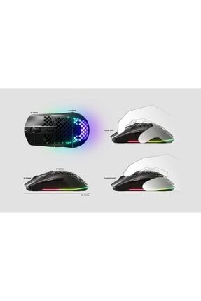 SteelSeries Aerox 3 Wireless 18000 Dpı Ultra Hafif Gaming Mouse Siyah 4