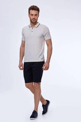 Hemington Erkek Kırık Beyaz Desenli Polo Yaka T-shirt 1