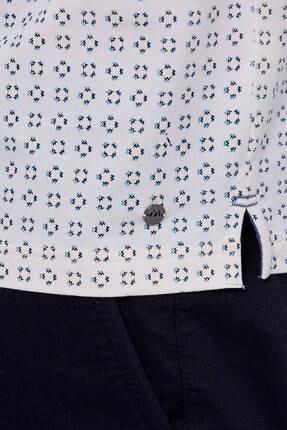 Hemington Erkek Kırık Beyaz Desenli Polo Yaka T-shirt 4