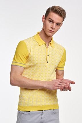 Hemington Sarı Desenli  Pamuk Triko Polo 0