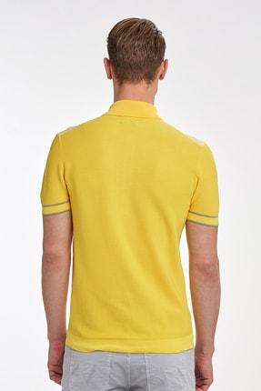 Hemington Sarı Desenli  Pamuk Triko Polo 2