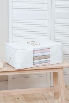 Ocean Home Orta Boy Beyaz Renk,pvc Detaylı, Baskılı Hurç // 52x28x21 0
