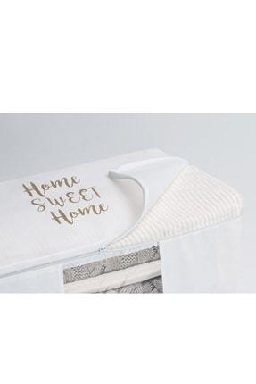 Ocean Home Orta Boy Beyaz Renk,pvc Detaylı, Baskılı Hurç // 52x28x21 3