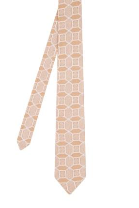 Hemington Erkek Camel Karo Desenli Örgü Kravat 0