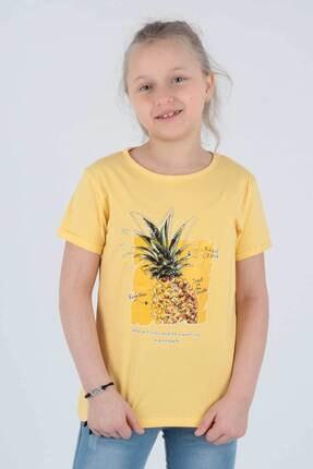 Ahenk Kids Kız Çocuk Sarı Ananas Baskılı Tshirt Ak721525 0