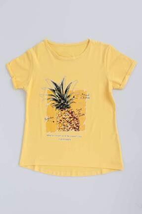 Ahenk Kids Kız Çocuk Sarı Ananas Baskılı Tshirt Ak721525 4