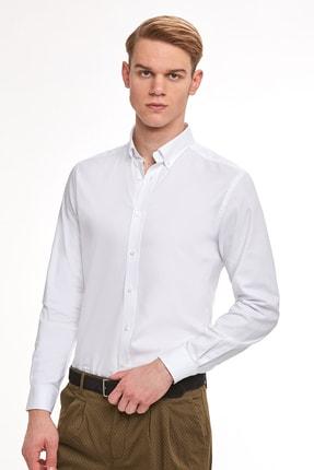 Hemington Erkek Beyaz Oxford Gömlek 2