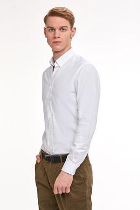 Hemington Erkek Beyaz Oxford Gömlek 3