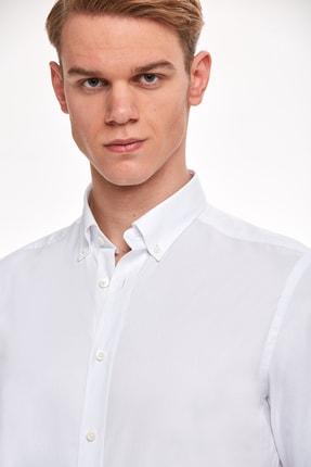 Hemington Erkek Beyaz Oxford Gömlek 4