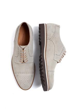 Hemington Erkek  El Yapımı Bej Yazlık Süet Deri Ayakkabı 1