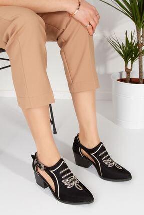 derithy Tesra Ayakkabı-siyah Süet-lzt0322 1