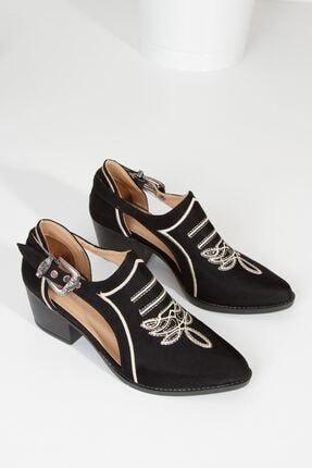derithy Tesra Ayakkabı-siyah Süet-lzt0322 3