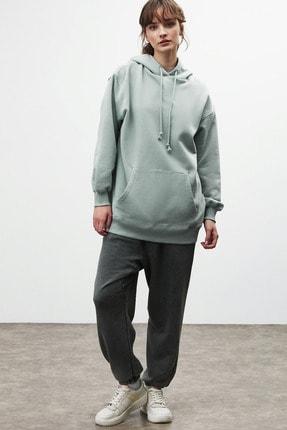 GRIMELANGE FRIDA Kadın Mint Oversize Kapüşonlu Sweatshirt 4