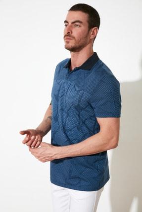 TRENDYOL MAN Mavi Erkek Regular Fit Polo Yaka T-shirt TMNSS21PO0026 1