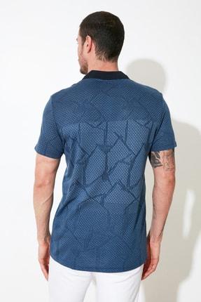 TRENDYOL MAN Mavi Erkek Regular Fit Polo Yaka T-shirt TMNSS21PO0026 3