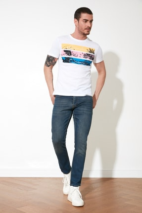TRENDYOL MAN Indigo Erkek Skinny Jeans TMNAW20JE0434 1